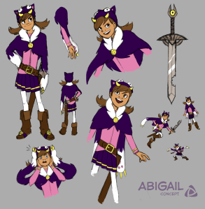 Concept art of Abigail Astoundo by Rose McClain