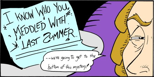 I Know Who You Meddled With Last Summer Mystery Comic