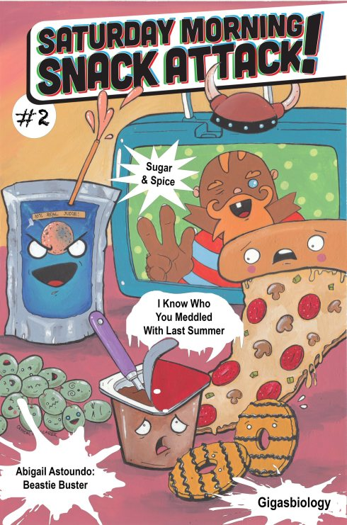 Snack Attack! vol. 2 cover by Crystal Mielcarek.