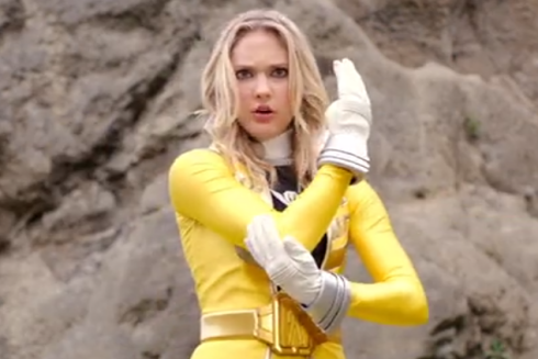 Gia from Power Rangers Super Megaforce ready to kick butt, not take it up the butt.